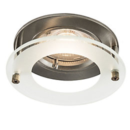 Colours Brushed chrome LED Fixed Recessed downlight 4.9