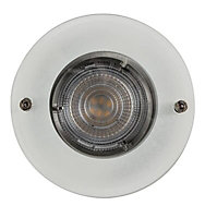 Colours Brushed chrome LED Fixed Recessed downlight 4.9 W IP20