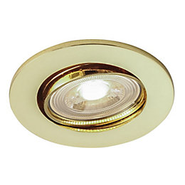 Colours Gold effect LED Adjustable Recessed downlight 4.8