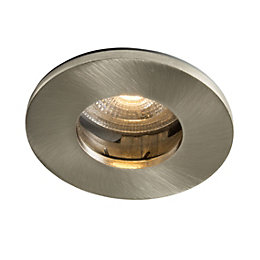 Colours Brushed chrome LED Fixed Recessed downlight 5