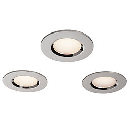 Colours Chrome effect LED Adjustable Recessed downlight 5.5