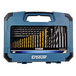 Erbauer Mixed Drill Bit Set, 80 Pieces