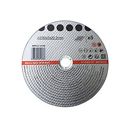 230mm Metal Cutting Disc, Pack of 5