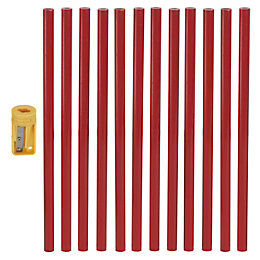 Red Carpenter pencil, Pack of 12