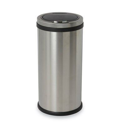 Cooke & Lewis Stainless steel Touch top kitchen bin | Departments ...