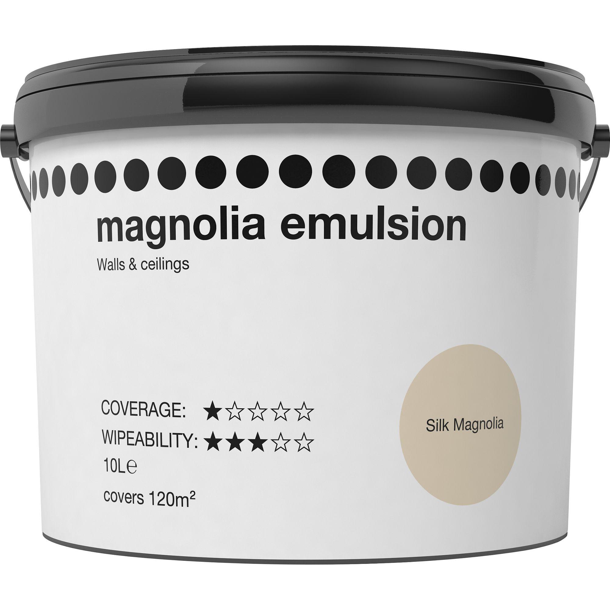 Magnolia Silk Emulsion paint 10L | Departments | DIY at B&Q