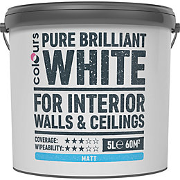 Colours White Matt Emulsion Paint 5L
