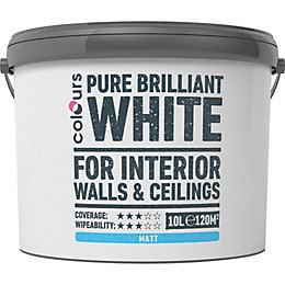 Colours White Matt Emulsion paint 10 L