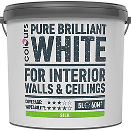 Colours White Silk Emulsion Paint 5L