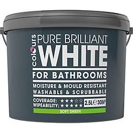 Colours White Soft sheen Emulsion paint 2.5 L