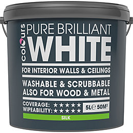 Colours Washable & Scrubbable White Silk Emulsion Paint