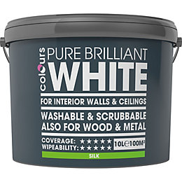 Colours Premium White Silk Emulsion Paint 10L