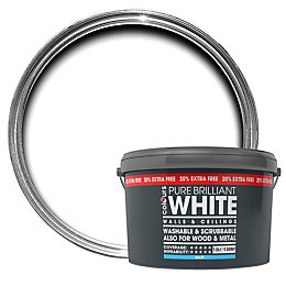 Colours Premium White Matt Emulsion Paint 12L