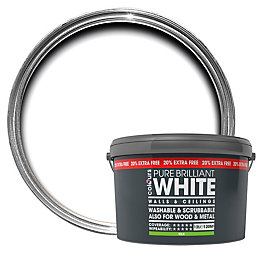Colours Premium White Silk Emulsion Paint 12L