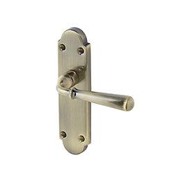 Leba Antique Brass effect Internal Straight Latch Door