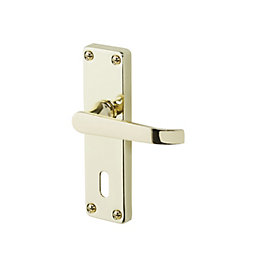 Arsk Polished Brass effect Internal Straight Lock Door