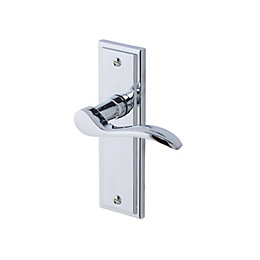 Sennen Polished Chrome effect Internal Scroll Latch Door