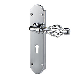 Seini Polished Chrome effect Internal Curved Lock Door