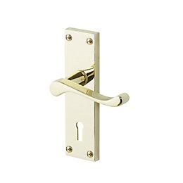 Nehou Matt Polished brass effect Internal Scroll Lock