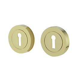 Colours Polished brass effect Escutcheon, Pair