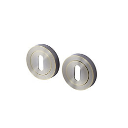 Colours Brass effect Escutcheon, Pair