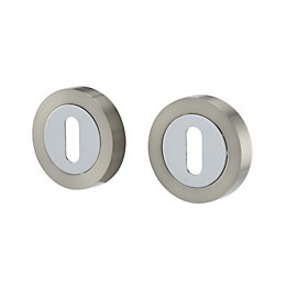 Colours Polished chrome effect Escutcheon, Pair