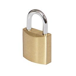 Smith & Locke Brass Cylinder Steel open shackle