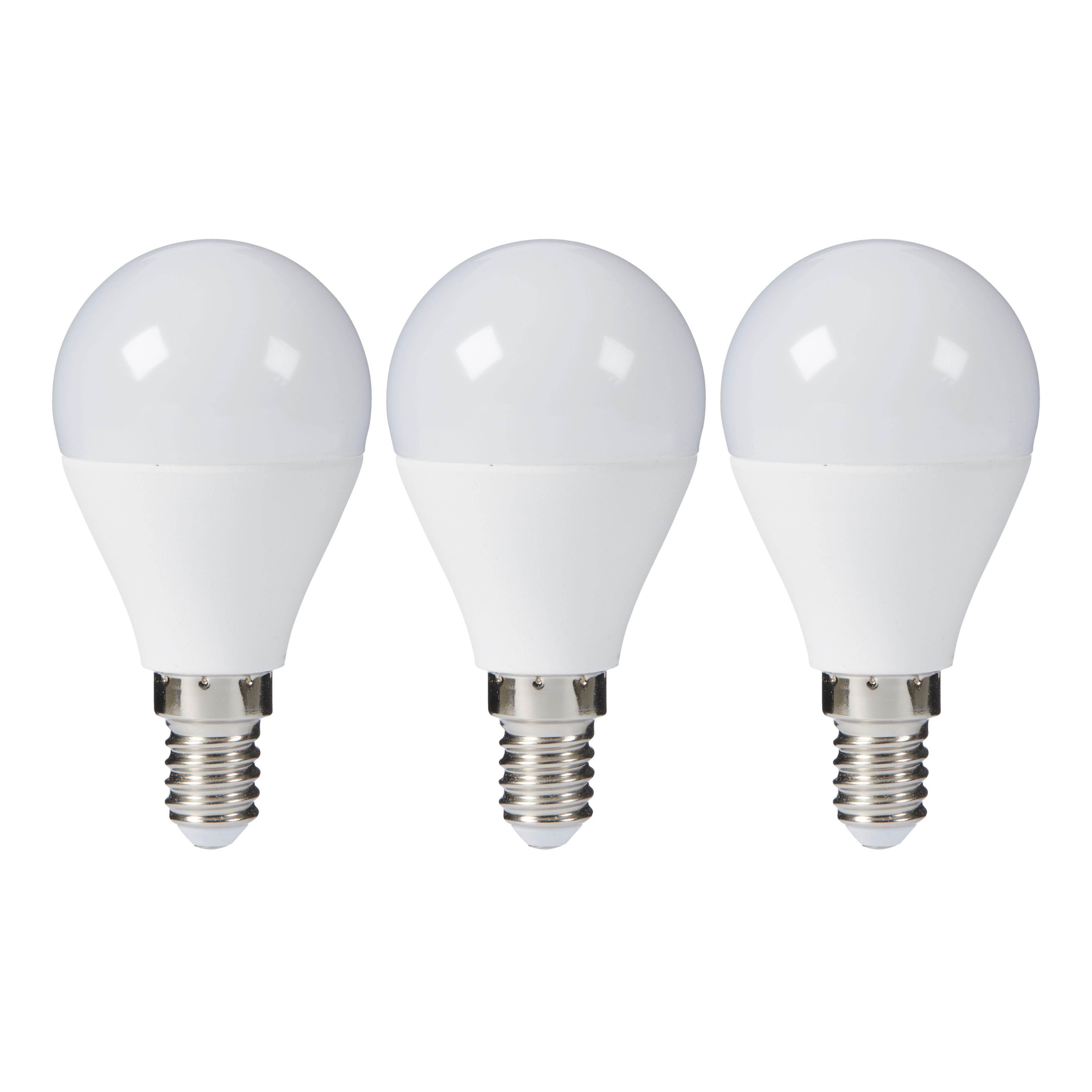 Diall E14 806lm LED Round Light Bulb, Pack Of 3