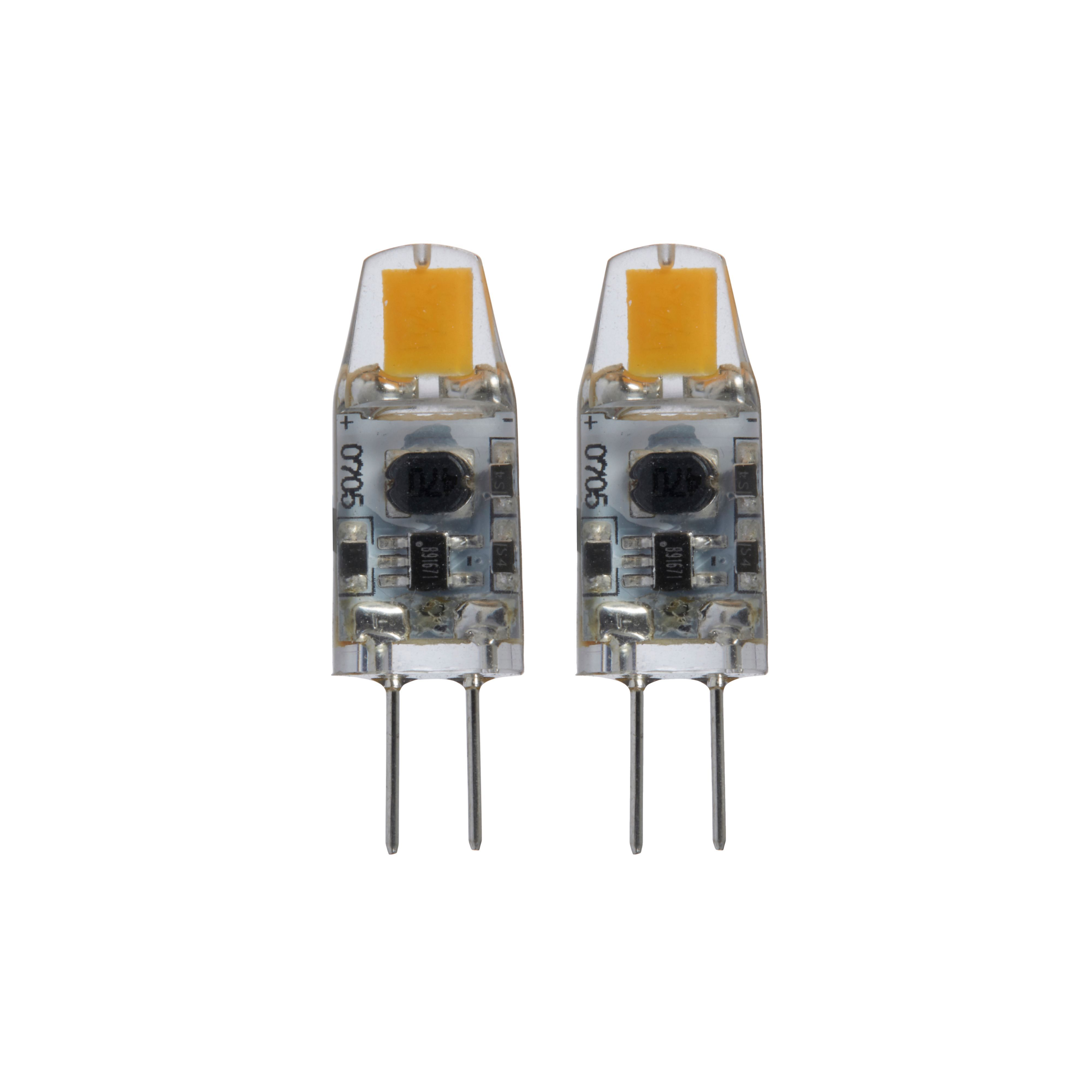 Diall G4 100lm LED Capsule Light Bulb, Pack Of 2