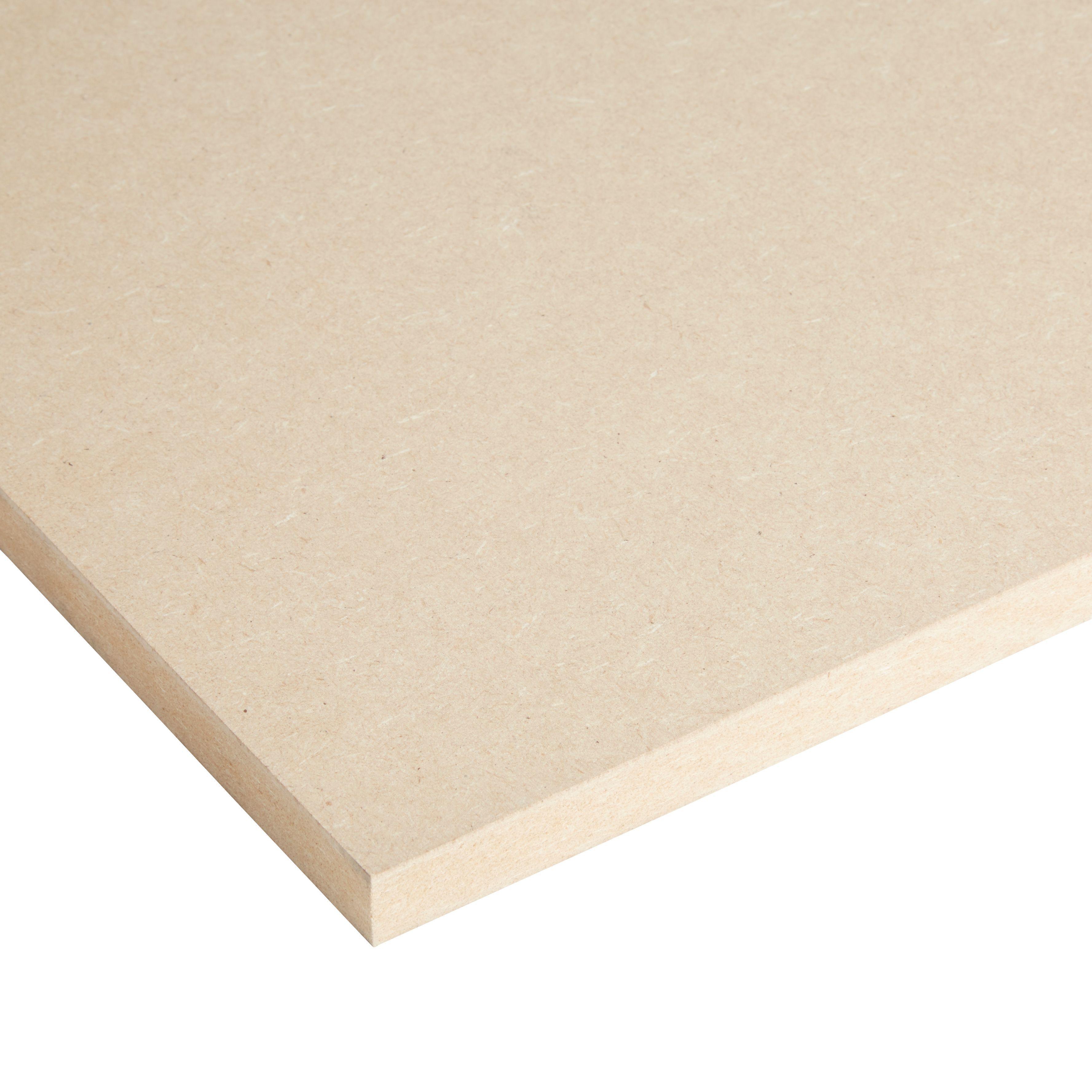 Mdf Board Th 18mm W 610mm L 1830mm Departments Diy