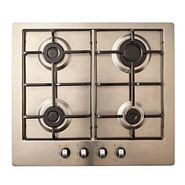 Cooke & Lewis GASUIT4 4 Burner Stainless Steel