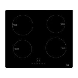 Cooke & Lewis CLIND60 4 Burner Black Glass