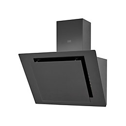 Cooke & Lewis CLAGB60 Black Glass Angled Cooker
