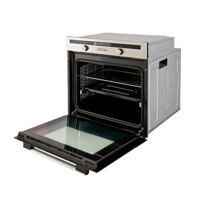 Cooke Lewis Clmfst Grey Electric Single Multifunction Oven Departments Tradepoint