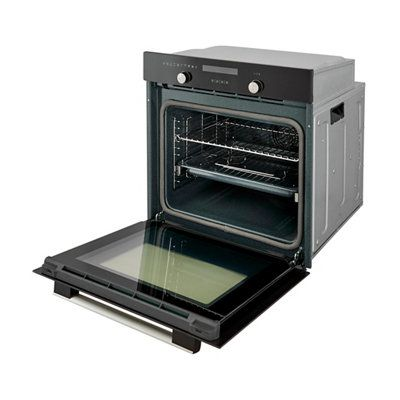 Cooke Lewis Black Pyrolytic Oven Departments Diy At B Q