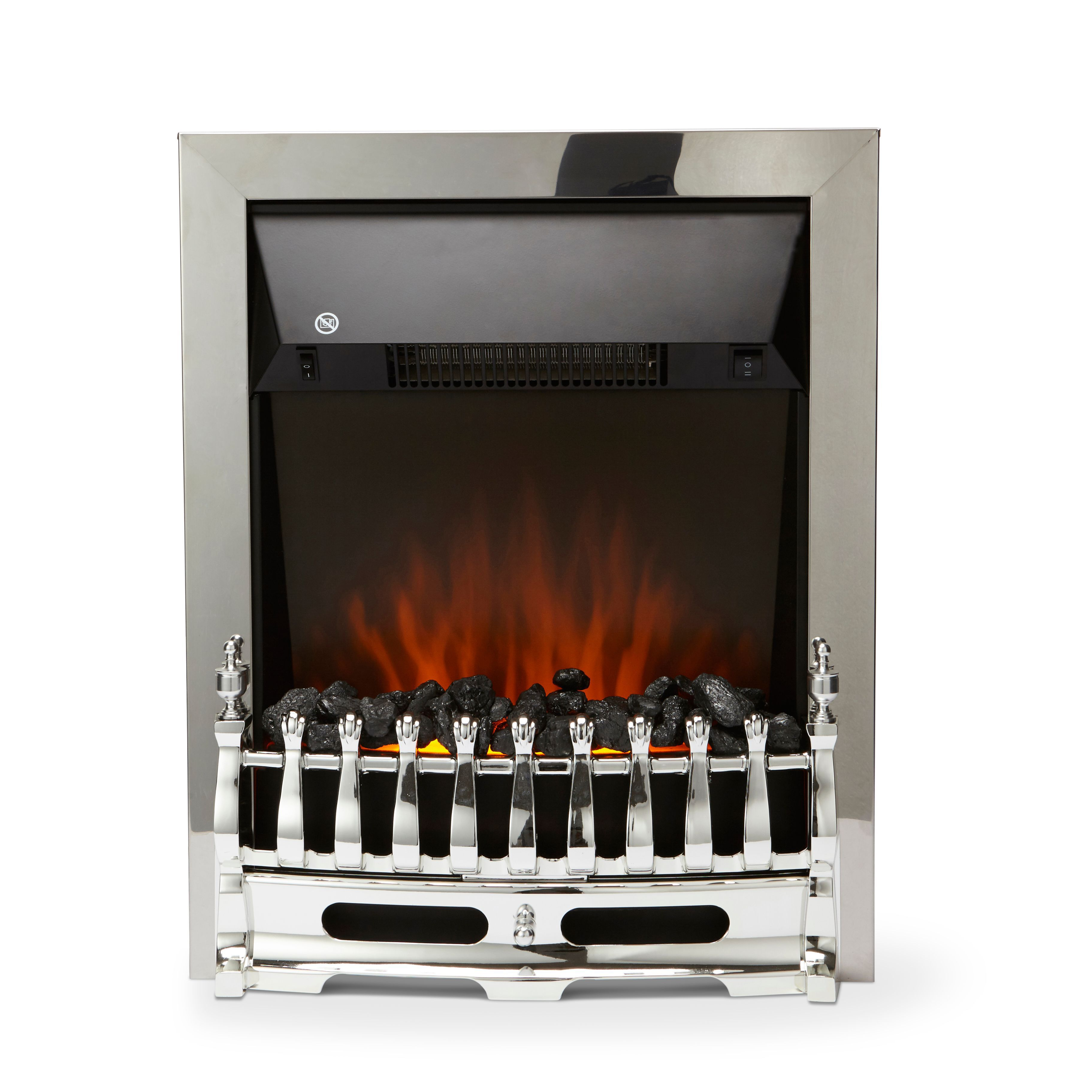 led insert electric fireplace departments diy at b q. Black Bedroom Furniture Sets. Home Design Ideas
