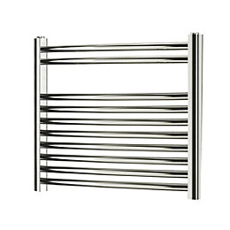 Blyss Chrome Curved ladder Radiator (H)500mm (W)550mm