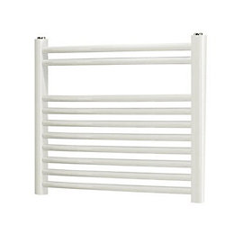 Blyss White Curved Ladder Towel Radiator (H)500mm (W)550mm