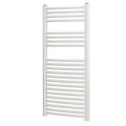 Blyss White Curved Ladder Towel Radiator (H)1100mm (W)450mm