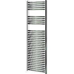 Blyss Chrome Curved ladder towel Radiator (H)1600mm (W)450mm