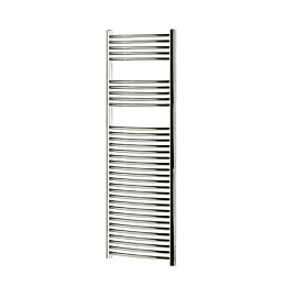 Blyss Chrome Curved ladder towel Radiator (H)1600mm (W)600mm