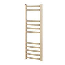 Blyss Conway Beige Curved bar ladder towel Radiator