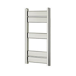 Blyss Ellesmere Chrome Towel radiator (H)700mm (W)400mm
