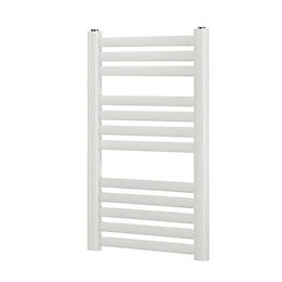 Blyss Aspley White Flat bar ladder towel Radiator