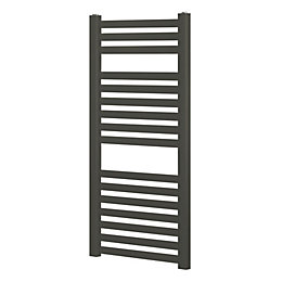Blyss Aspley Black Towel Radiator (H)950mm (W)480mm