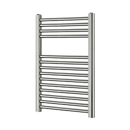 Blyss Chrome Flat Ladder Towel Radiator (H)700mm (W)400mm