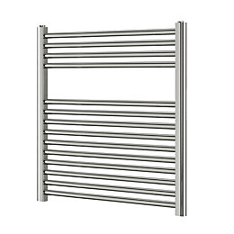 Blyss Chrome Flat Ladder Towel Radiator (H)700mm (W)600mm