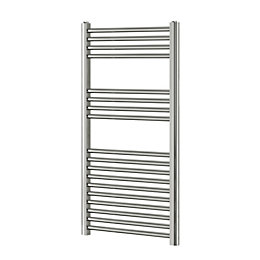 Blyss Chrome Flat ladder towel Radiator (H)1000mm (W)450mm