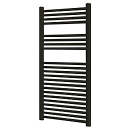 Blyss Black Flat Ladder Towel Radiator (H)1100mm (W)500mm