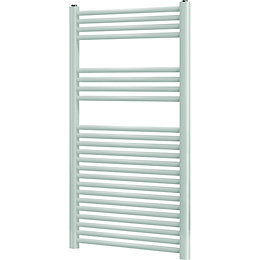 Blyss Leyburn White Flat Ladder Towel Radiator (H)1200mm